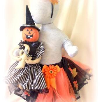 Halloween/Fall tutu and Headband Set